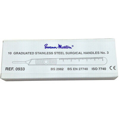 Scalpel Blade Handle Swann Morton #3 Box (10 Pack)