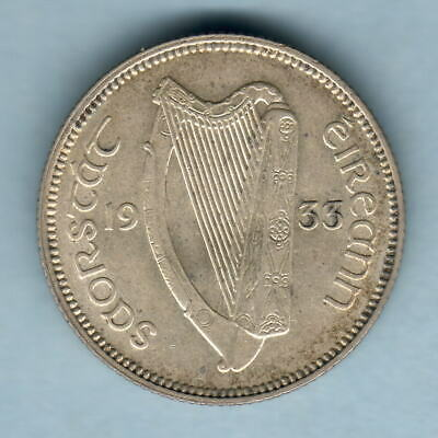Ireland. 1933 Shilling..  gEF - Much Lustre