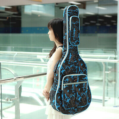 """Padded Straps Gig Bag Guitar Carrying Case for 40"""" Acoustic Classic Guitar Z9Q4"""