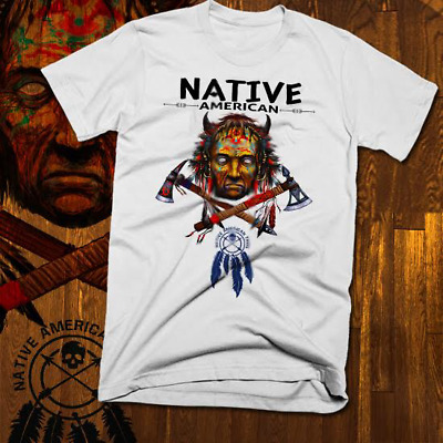 Native American Indian T-Shirt Warrior Chief Skull, indigenous tribes, tipi, new