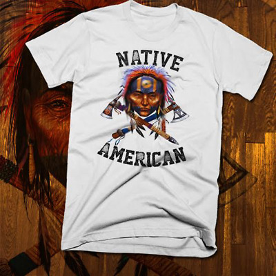 Native American Indian T-Shirt Warrior Chief Skull, indigenous tribes, old world