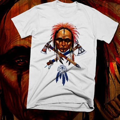 Native American Indian T-Shirt Warrior Chief Skull, indigenous tribes, paleo