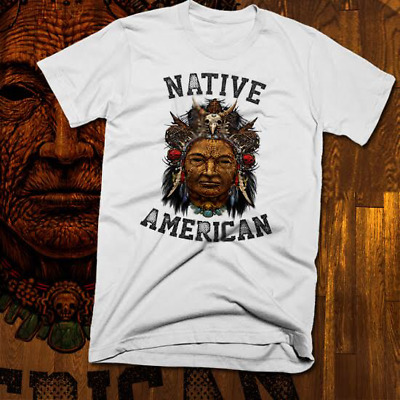 Native American Indian T-Shirt Warrior Chief Skull, indigenous tribes, ghost new