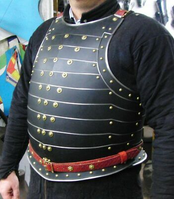 18GA Steel Medieval Upper Body Armor Breastplate Knight Cuirass Jacket Armor