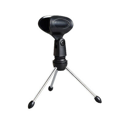 Adjustable Mini Tripod Desktop Table Microphone Stand Holder & Mic Clip Durable