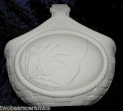 Ceramic Ready to Paint Large Basket w/Designer Insert