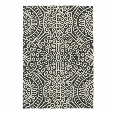 NEW Dash & Albert Temple Wool Rug in Grey