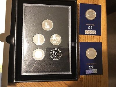 2019 Celebrating 50 Years of the UK 50p  Proof Coin Set Kew Gardens Set + Extras