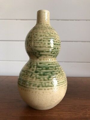 Vintage Gourd Shaped Chinese Vase Signed To Base