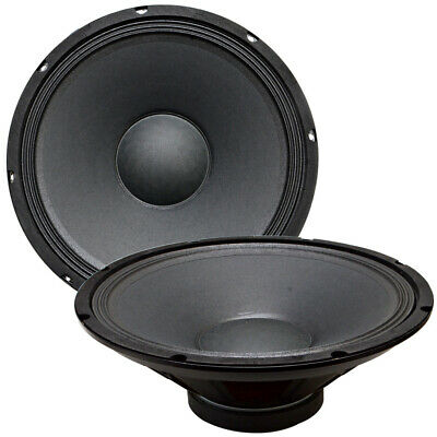 "Pair of 15"" Raw WOOFERS Speakers Drivers PA DJ Replacement PRO Audio 16 ohms"