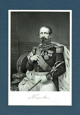Napoleon III, Emperor of the French  - Engraving after Alonso Chappel - c1870