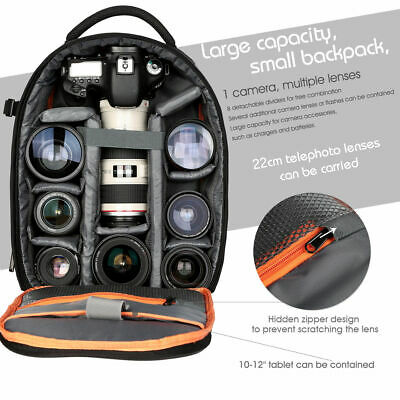 K&F Concept DSLR Camera Backpack Bag Waterproof Shockproof for Canon Nikon Sony