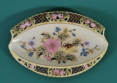 Antique ZSolnay oval dish, c. 1890