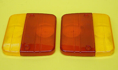 FREE P & P - 2 x  Replacement Lens for DAFA Rear Trailer Lamps