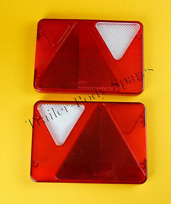 FREE UK Post - LH & RH Replacement Lens for AJBA RL80 Rear Trailer Lamps Erde