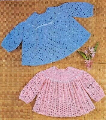 Vintage Knitting Pattern BABY Copy  Angel Tops 4 Ply