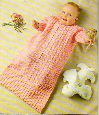 Baby Knitting Pattern Cosy sleeping bag knitted in 8 ply copy Easy to Knit