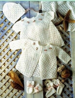 LAYETTE ~ Baby Knitting Pattern in  Copy  Premmie size included