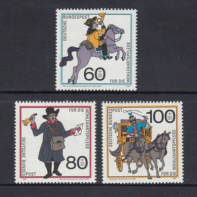 GERMANY - West 1989 HUMANITARIAN RELIEF fund  set of 3  MNH - Postal Deliveries