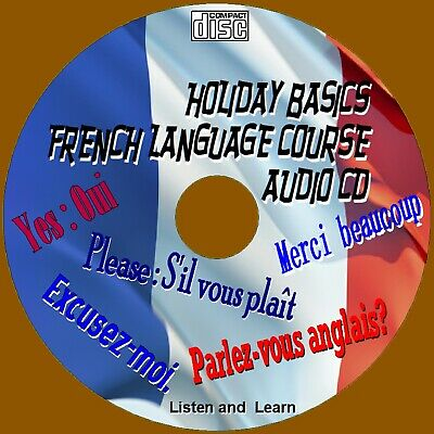 Basic Holiday French Course Simple To Learn Essential Words & Phrases Audio Cd