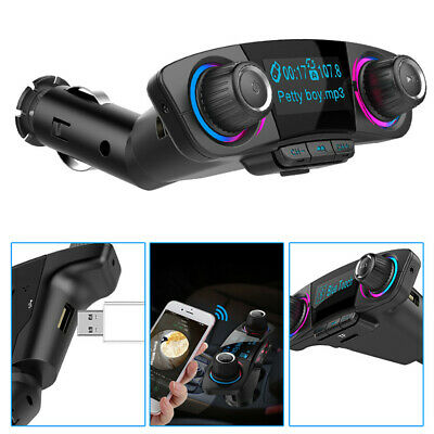 NEW Car Kit Handsfree In-Car BT4.2 FM Transmitter MP3 Radio Adapter USB Charger