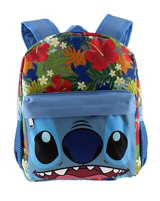 Disney Lilo   Stitch Face Luau Hawaiian Mini Toddler Backpack School Book  Bag 46cb387e68865