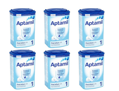 6 x Aptamil First Infant Milk 1 From Birth Onwards Stage 1 900g New And Sealed