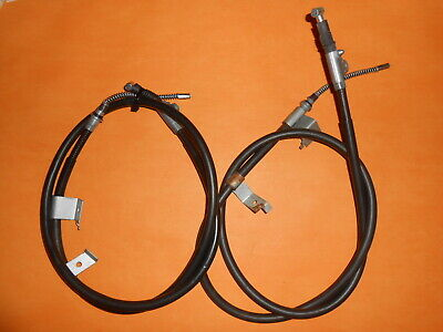 For NISSAN PRIMERA 1.6,2.0D(90-06/96) rear drums REAR HAND BRAKE CABLES PAIR