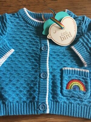 Little Bird By Jools Oliver Rainbow Baby Gift Cardigan Boy Girl Unisex 0-1 Month
