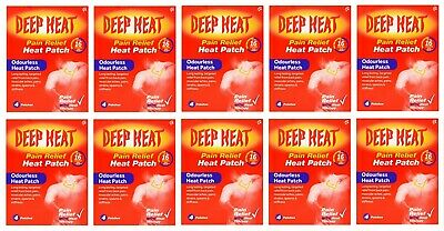 10 x Deep Heat Pain Relief Patches - Regular - 4 pack