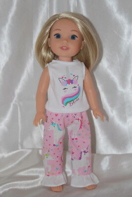 Dress Outfit fits 14inch American Girl Wellie Wishers Doll Clothes Unicorn
