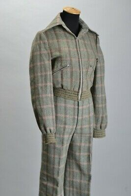 Tom Gilbey London Couturier Early 1970s Blouse Suit with Oxford Bags. Ref JWIJ