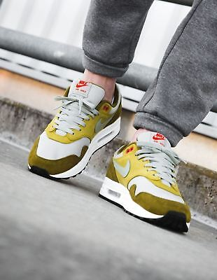new style 4d586 638a5 Nike Air Max 1 Premium Retro Green Olive Khaki Curry Uk Size 9 Bnib.