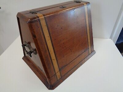 Unusual Victorian Triangular Wooden Cutlery Box (Canteen Only) Other Uses?