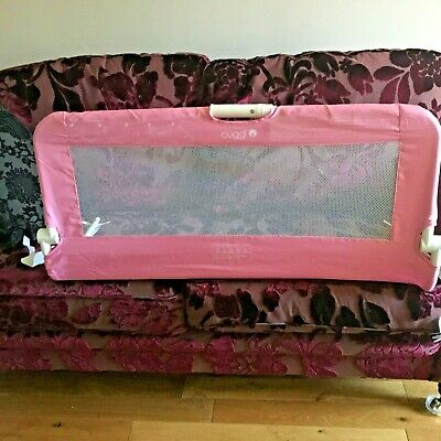 Cuggi Pink Bed Guard For A Cot Bed Or Single Bed