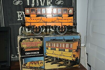 "HORNBY G104 COACH FOR  STEPHENSONS ROCKET 3.5"" GAUGE boxed"