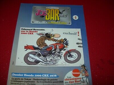 COLLECTION  JOE BAR TEAM 50's -80's  LES MOTOS CULTES N° 1  HONDA 1000 CBX 1978