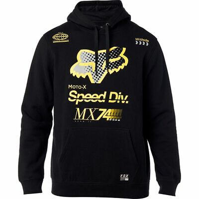 Fox Racing Backdrafter Mens Pullover Hoody Black/Yellow
