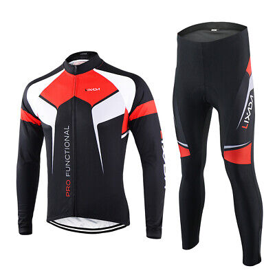Lixada Spring Autumn Cycling Clothing Set Sportswear Suit Bicycle Bike X8A9 64953087a