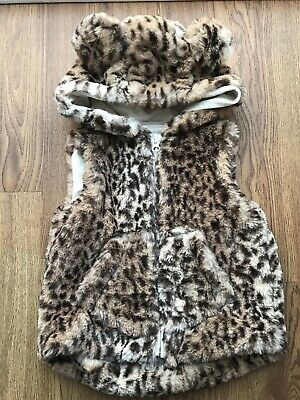 Next Baby Girl Animal Print Faux Fur Gilet 12-18 Months