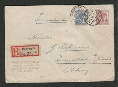 Germany 1948 registered to Switzerland