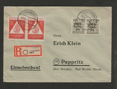 Germany 1948 Soviet Zone registered with semi-postals