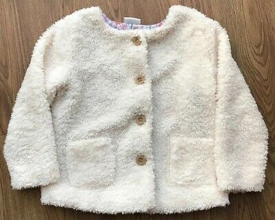 F&F Baby Girl Cream Faux Fur Jacket 12-18 Months