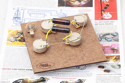 """Prewired Assembly fits Gibson® Les Paul/Luxe 60-70'Caps/CTS Longshaft""""TVT"""" Pots"""