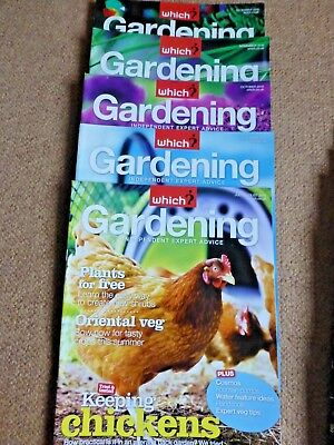 25 xWhich? gardening magazines - July-December 2010, All 2011 and All 2012