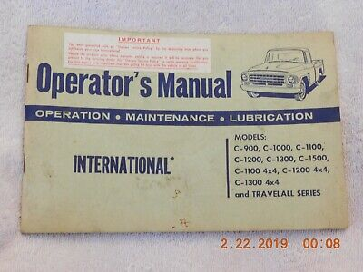 International Operator's Manual