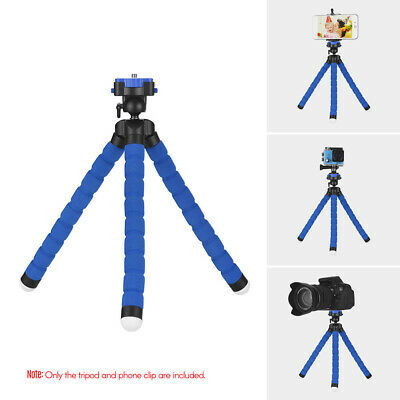 Octopus Flexible Tripod Mount Stand+Clip For Gopro Hero 7 6 5 4 3 Action O0Z2