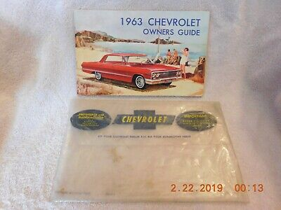 Original 1963 Chevrolet Owner's Guide with original plastic sleeve
