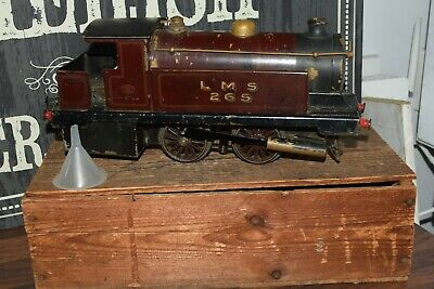 BOWMAN 265 O GAUGE LIVE STEAM LOCOMOTIVE LOCO ENGINE TRAIN boxed maroon