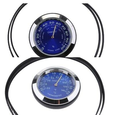 Motorcycle Instruments Waterproof Temperature Hygrometer Gauge Heavy Duty
